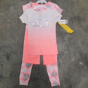 Carter's four piece pajama set